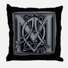 Celtic Monogram M Throw Pillow