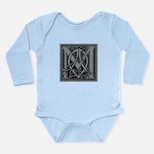Celtic Monogram M Long Sleeve Infant Bodysuit