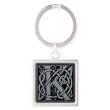 Celtic Monogram K Square Keychain