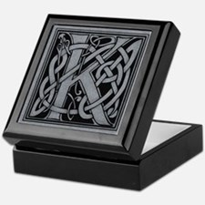 Celtic Monogram K Keepsake Box