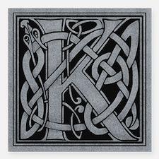"Celtic Monogram K Square Car Magnet 3"" x 3"""