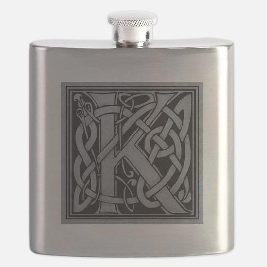 Celtic Monogram K Flask