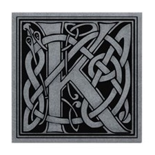Celtic Monogram K Tile Coaster