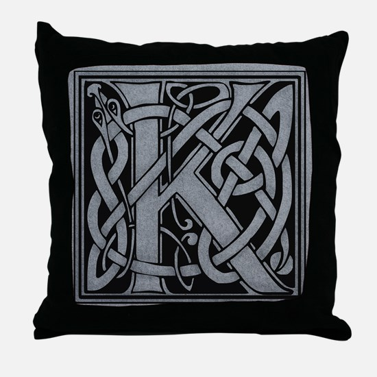 Celtic Monogram K Throw Pillow
