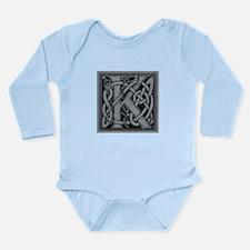 Celtic Monogram K Long Sleeve Infant Bodysuit
