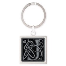Celtic Monogram J Square Keychain
