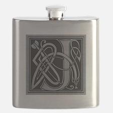 Celtic Monogram J Flask
