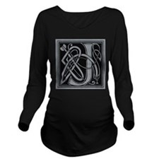 Celtic Monogram J Long Sleeve Maternity T-Shirt