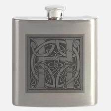 Celtic Monogram H Flask