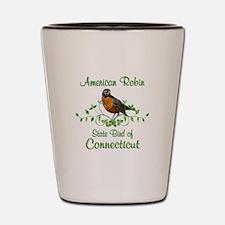 Robin Connecticut Bird Shot Glass