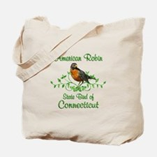 Robin Connecticut Bird Tote Bag