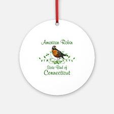 Robin Connecticut Bird Ornament (Round)