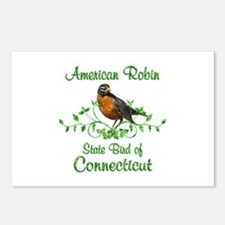 Robin Connecticut Bird Postcards (Package of 8)