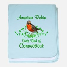Robin Connecticut Bird baby blanket