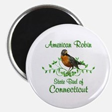 Robin Connecticut Bird Magnet