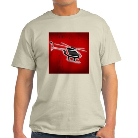 Leading Edge Helicopters, Red Logo Light T-Shirt
