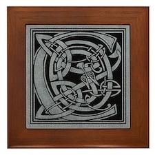 Celtic Monogram C Framed Tile