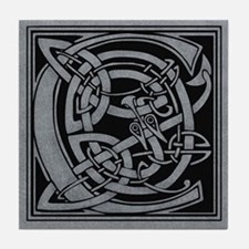 Celtic Monogram C Tile Coaster