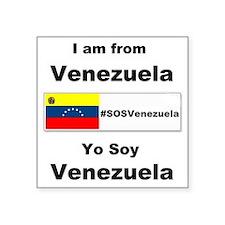 "I am from Venezuela Square Sticker 3"" x 3"""