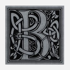 Celtic Monogram B Tile Coaster