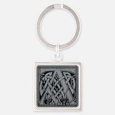 Celtic Monogram A Square Keychain