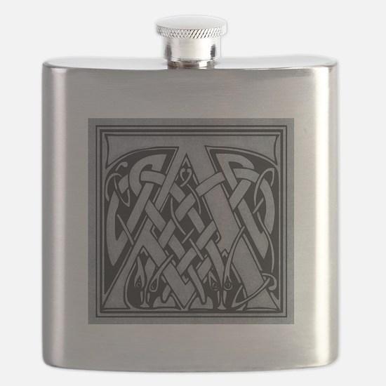 Celtic Monogram A Flask