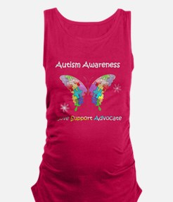 Autism Awareness Butterfly Maternity Tank Top