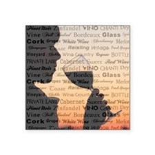 "WINE WORDS Square Sticker 3"" x 3"""