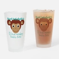 Personalize Love monkey Drinking Glass