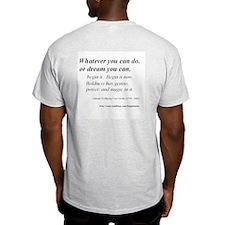 (Success - Goethe - A) Ash Grey T-Shirt