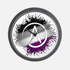 Atheist Symbol Asexual Wall Clock