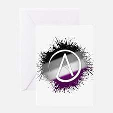 Atheist Symbol Asexual Greeting Card