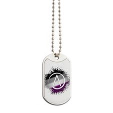 Atheist Symbol Asexual Dog Tags