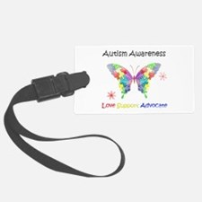 Autism Awareness Butterfly Luggage Tag