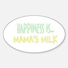 Happiness is Mamas Milk Oval Decal