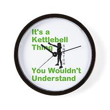 Kettlebell Thing Wall Clock