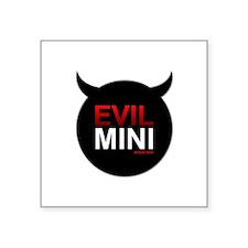 Evil Mini Oval Sticker