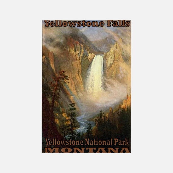 Yellowstone Falls Rectangle Magnet