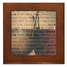 WINE WORDS Framed Tile