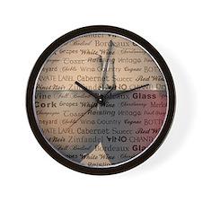 WINE WORDS Wall Clock