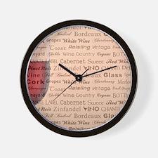 WINE TYPOGRAPHY Wall Clock