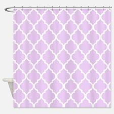Lavender Quatrefoil Pattern Shower Curtain