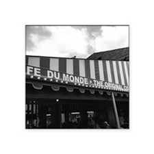 "cafe du monde, new orleans Square Sticker 3"" x 3"""