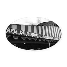 cafe du monde, new orleans Oval Car Magnet