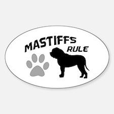 Mastiffs Rule Oval Decal