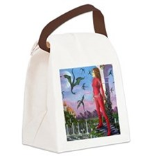 Dragon Song by Fantasy Illustrato Canvas Lunch Bag