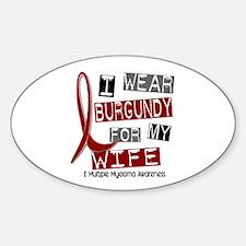 Multiple Myeloma I Wear Burgundy 37 Decal