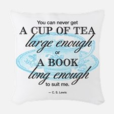 Tea Quote Woven Throw Pillow
