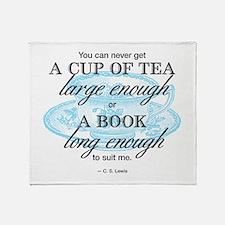 Tea Quote Throw Blanket