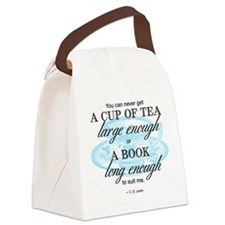 Tea Quote Canvas Lunch Bag